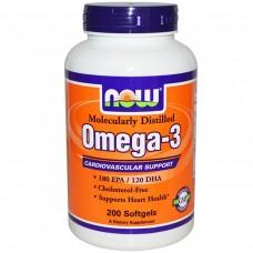 Жирні кислоти NOW Omega-3 - 200 softgels