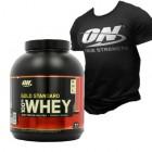 АКЦІЯ - Optimum Nutrition - 100% Whey Gold Standard - 2273 г + футболка в подарунок