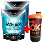 100% Whey Protein - Powerful Progress – 1 кг/2шт + шейкер в подарунок