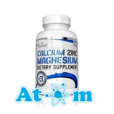 Вітаміни BioTech Calcium Zinc Magnesium 100 табл