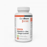 GymBeam - Vitamin C + Zinc + Ginger extract - 90 табл (жувальні)