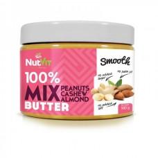 Мікс арахісової, мигдальної та кешью пасти NutVit 100% Nut Butter Mix - 500 г