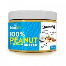 Арахісова паста Nutvit 100% Peanut + Coconut Butter - 500 g
