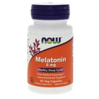 Now Foods - Melatonin 5 mg - 60 капс